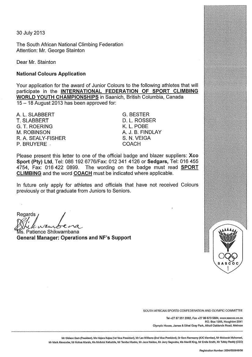 SASCOC letter re colours awarded1